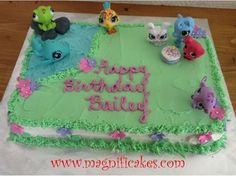 The Littlest Pet Shop Birthday Cake    I have all of them except the whale and turtle