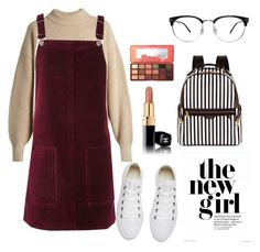its snowing right now. by heyheyheyitsliv on Polyvore featuring polyvore fashion style Topshop The Row Converse Henri Bendel Too Faced Cosmetics clothing