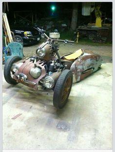 Photo Album: Parts, Pieces and Ideas Photo Album: Rat Rod Lifestyle Steampunk Motorcycle, Trike Motorcycle, Motorcycle Design, Bike Design, Concept Motorcycles, Custom Motorcycles, Custom Trikes, Custom Cars, Cool Bikes