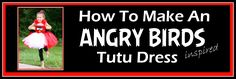 Tutorial for how to make a red, white, and black Angry Birds short skirt tutu…