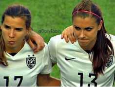 Tobin Heath # Alex Morgan