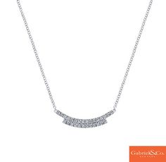 A gorgeous 14k White Gold Diamond Necklace by Gabriel & Co. that is a must have for the upcoming winter holidays! This stunning diamond necklace is such an eye catcher and will absolutely amazing for your holiday parties. Find your local Gabriel & Co. retailer by searching your zipcode on our website www.gabrielny.com