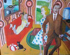 Familia Drapper, cuadro de Pacco, óleo sobre tela.