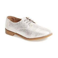 Women's TOMS Leather Brogue Oxford (149 CAD) ❤ liked on Polyvore featuring shoes, oxfords, brogue oxford shoes, balmoral oxfords, oxford brogues, leather shoes and balmoral shoes