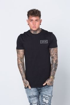 304 Clothing - Essential Tee - Black | We love the stylish simplicity of 304 Clothing. From everyday essentials, to slogan tees, to tracksuits - they can't put a foot wrong! Shop the full range today @ Urban Celebrity!