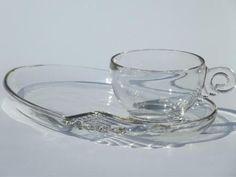 Federal Columbia pattern Clear glass snack 1 by yolandasGiftShop