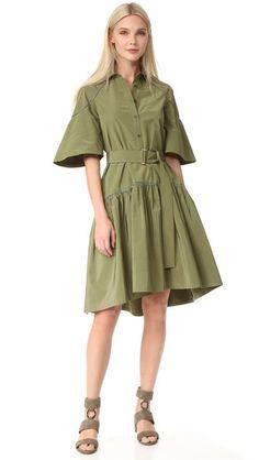 Lela Rose Платье-рубашка