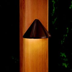 This outdoor deck light features an LED light within a brass construction! Outdoor Deck Lighting, Landscape Lighting, Led Light Fixtures, Shape Coding, Cool Landscapes, One Light, Modern Contemporary, Wall Lights, Bulb