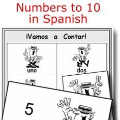 Printable Spanish FREEBIE of the Day: Numbers to 10 fun activity set from PrintableSpanish.com