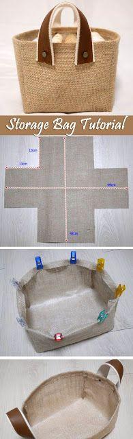 Fabric Box Tutorial Storage Fabric Burlap Box Pattern and Tutorial. Bag Step by step photo tutorial…Storage Fabric Burlap Box Pattern and Tutorial. Bag Step by step photo tutorial… Sewing Tutorials, Sewing Crafts, Sewing Projects, Bag Tutorials, Sewing Ideas, Fabric Crafts, Sewing Tips, Diy Projects, Crochet Crafts