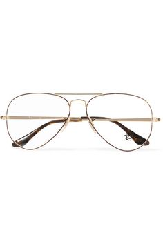 6a79fcd680 Ray-Ban - Aviator Gold-tone And Tortoiseshell Acetate Optical Glasses
