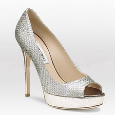 these would make some fabulous wedding shoes.  ;)  jimmy choo.