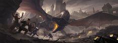Rise of the Dragon GM Screen, Javier Charro on ArtStation at https://www.artstation.com/artwork/gQerQ