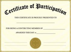Free Printable Certificate of Participation - Best Templates Ideas For You Free Printable Certificate Templates, Certificate Of Participation Template, Certificate Format, Training Certificate, Certificate Design Template, Free Printables, Certificate Images, Best Templates