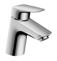 Hansgrohe 71070001 Chrome Logis Single Hole Bathroom Faucet with EcoRight, ComfortZone, and Air Power Technologies - Drain Assembly Included Brass Faucet, Basin Mixer Taps, Duravit, Bathroom Sink Faucets, Brass Material, Messing, Automata, Montage, Can Opener