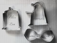Timey Wimey Cookie Cutters set of 3 by sciencey on Etsy, $19.00