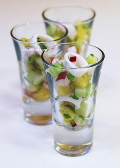 Calamari Ceviche (try with shrimp or without meat)