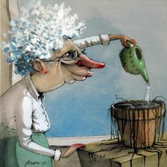 That plant looks as if it could use several splashes of water Artist: Lisa Aisato from Norway Quirky Art, Whimsical Art, Shadow Face, Water Artists, Satirical Illustrations, Art Forms, Humor, Fantasy Art, Cool Art
