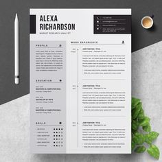 Clean Modern and Professional Resume and Letterhead design. Fully customizable easy to use and replace color & text. Guaranteed to help land your dream job. Simple Resume Template, Modern Resume Template, Creative Resume Templates, Professional Resume Template, Cv Design Template, Branding Template, Visual Resume, Basic Resume, Free Resume