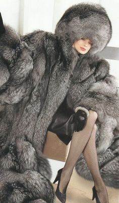 Stunning fur and leather ...better be cold out!