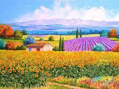 Provençal fields of dream. [Painting by Jean-Marc Janiaczyk]