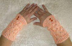 "Armstulpen - Armstulpen "" Kürbis"" - ein Designerstück von Rosemarie-Kerschl bei DaWanda"