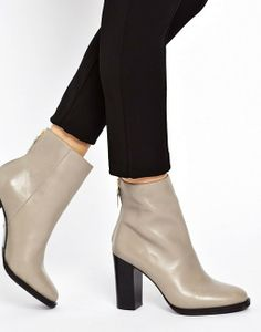 Whistles | Whistles Anjelica Zip Back Gray Ankle Boots at ASOS
