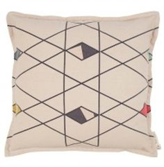 Pony Rider Modern Cushion Made from 100% hessian cotton. Scatter it amongst your existing cushions for a burst of colour or pop in on your bed all by its lonsome and watch it shine.