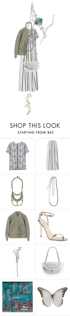 """""""Untitled #1358"""" by maja-z-94 ❤ liked on Polyvore featuring Nina Ricci, Peter Pilotto, BaubleBar, Ann Demeulemeester, adidas, Jimmy Choo, Eric Javits, NOVICA and Wendy Nichol"""