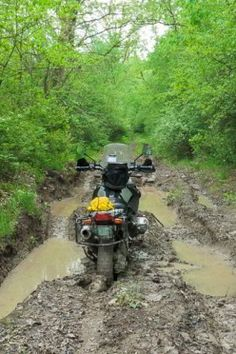 "BMW GS stuck in mud. Does ""GS"" really stand for ""Got-Stuck""?"