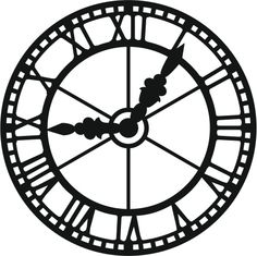 A clock face silhouette Cricut, Ideias Diy, Scan And Cut, Mad Hatter Tea, Silhouette Files, Digi Stamps, Silhouette Projects, Pyrography, Clipart