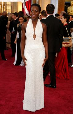 LUPITA NYONG'O IN CALVIN KLEIN COLLECTION Attending the 87th Annual Academy Awards, February 22.