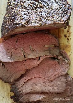 Garlic Lover's Roast Beef. This is exactly how I make mine minus the oil and rosemary.
