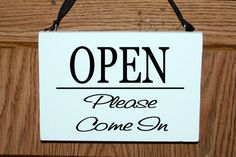 Two sided open/closed business door hanging sign by mtcvinyl, $14.99