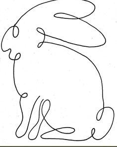 zajíc - jedním tahem