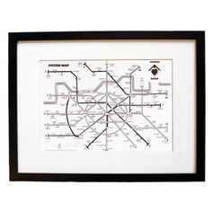 London Metro System Map Print ($19) ❤ liked on Polyvore featuring home, home decor, wall art, heart wall art, map wall art, london wall art, subway wall art and paper wall art