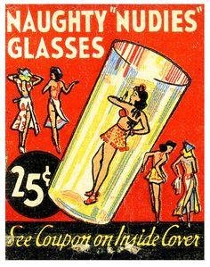 hoodoothatvoodoo:  Naughty 'Nudies' Glasses