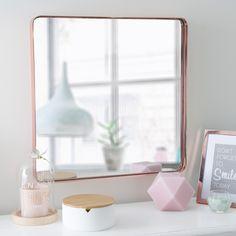 Miroir en métal cuivré 45 x 45 cm LULLA COPPER