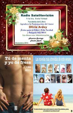 He participado en la I Feria Virtual del Libro en Satelitevisión... El 14 de enero en Chile TÚ DE MENTA Y YO DE FRESA