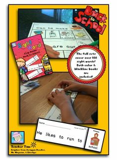 BACK TO SCHOOL Sight Word Flip Books and a FREEBIE!  Scroll to the bottom to grab 4 books for FREE!