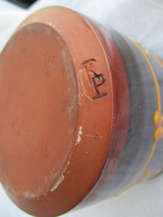 Early Hugh Maitland Perry Kingsand Pottery KP Stamp Pot from my own collection.