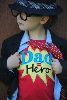 Daddy is my super hero kids Father's Day tshirt by Onceuponastory, $23.00
