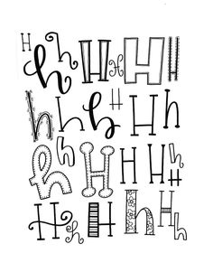 Hand lettering the letter H | Hand lettered alphabet | Ideas for lettering H