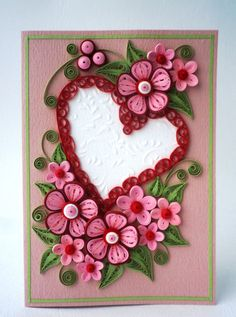 Valentine Quilling Card Valentine's Day quilling от QuillyVicky