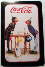 """COCA COLA AD AFRICAN AMERICAN CHILDS """"BIRTHDAY SMILES"""" MODERN SWAP PLAYING CARD"""