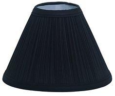 Deran 40116BK 16 Mushroom Pleat Empire Lamp Shade 6 x 16 x 12 Black -- Click image for more details.