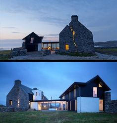mid-1700s house on Scottish Isle contemporary renovation by WT Architecture