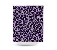 Leopard Print Bright Purple Shower Curtain   Unique In 4 Sizes For Any  BathroomComfort Spaces   Enya Shower Curtain   Purple  Grey   Flo  https  . Grey And Purple Shower Curtain. Home Design Ideas