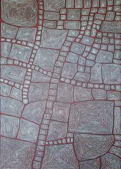 Thomas Tjapaltjarri Tingari ASAATT2173 2007 300x180cm Acrylic paints on linen (SOLD)