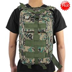Outdoor Tactical Backpack 30L Camping Hiking Trekking Camouflage Bag